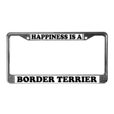 Happiness Is A Border Terrier License Plate Frame