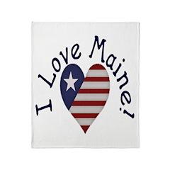 I Love Maine! Throw Blanket