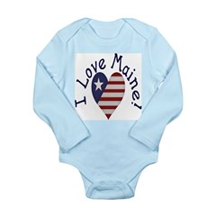 I Love Maine! Long Sleeve Infant Bodysuit