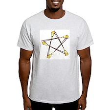 Besom Pentagram Ash Grey T-Shirt