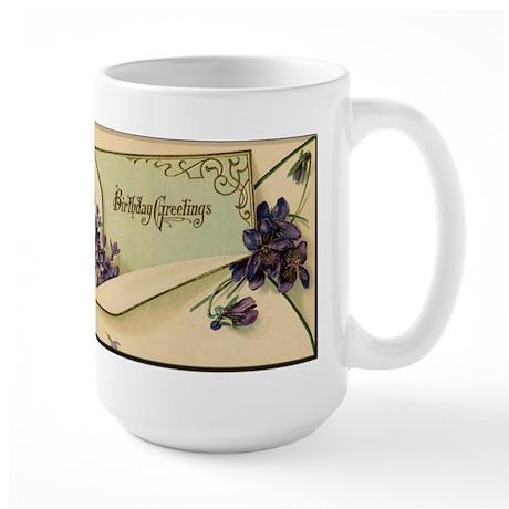 Birthday Greetings Large Mug