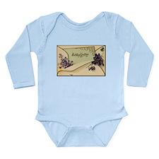 Birthday Greetings Long Sleeve Infant Bodysuit