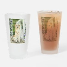 Golden Welcome Drinking Glass