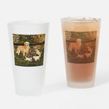 Golden Family Drinking Glass