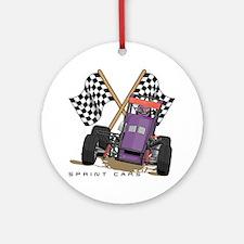 Sprint Cars Ornament (Round)