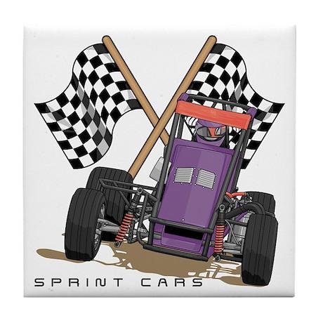 Sprint Cars Tile Coaster