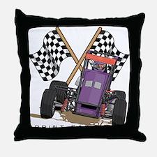 Sprint Cars Throw Pillow