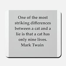 Mark Twain quote Mousepad