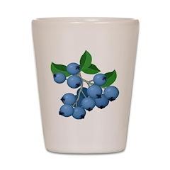 Blueberries Shot Glass