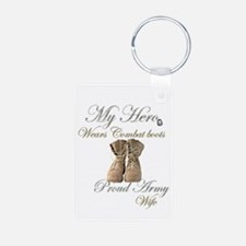 Combat boots Proud Wife Keychains
