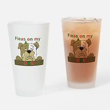Fleas on my Dog (Feliz Navida Drinking Glass