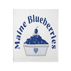 Blueberry Delight Throw Blanket