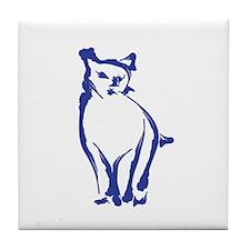 Inky Cat Tile Coaster