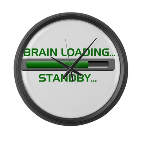 Brain Loading.... Large Wall Clock