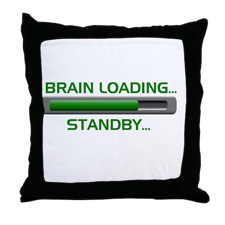 Brain Loading.... Throw Pillow