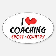 I heart Coaching C-C Sticker (Oval)