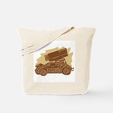 Spint Car Dirt Tote Bag
