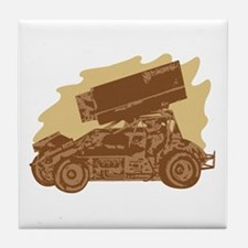 Spint Car Dirt Tile Coaster