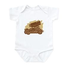 Spint Car Dirt Infant Creeper