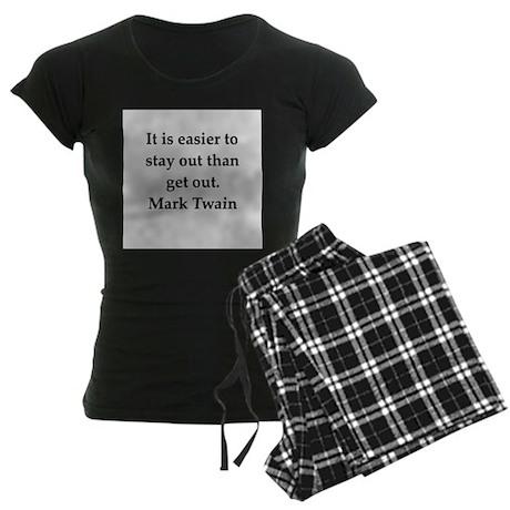 Mark Twain quote Women's Dark Pajamas