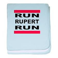 Run Rupert Run! baby blanket