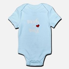 Worth the Wait baby design Body Suit