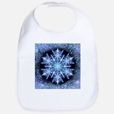 October Snowflake - square Baby Bib