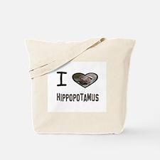 Cute I heart swimming Tote Bag