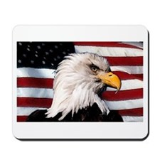 Bald Eagle Flag Water Color Mousepad