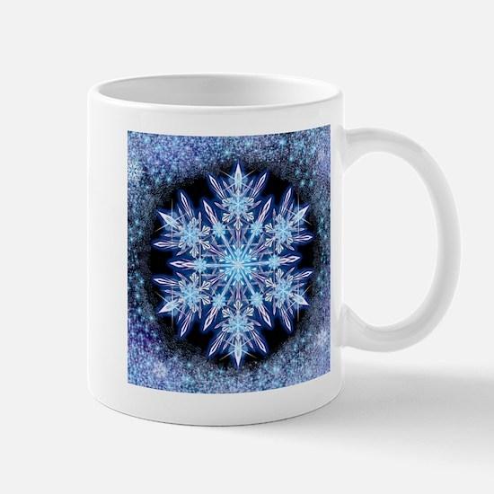 October Snowflake - square Mugs