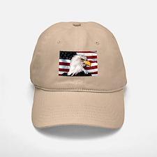 Bald Eagle Flag Water Color Baseball Baseball Cap