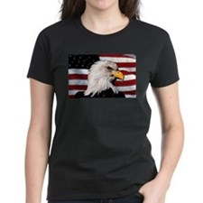 Bald Eagle Flag Water Color Tee