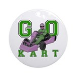 Go Kart Adult Ornament (Round)