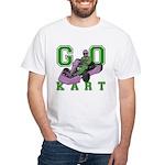 Go Kart Adult White T-Shirt