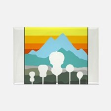 Mountain Music Rectangle Magnet (10 pack)