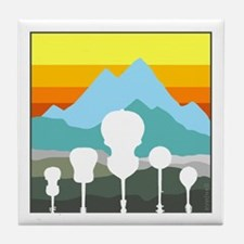 Mountain Music Tile Coaster