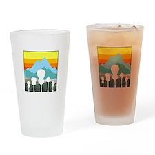 Mountain Music Drinking Glass
