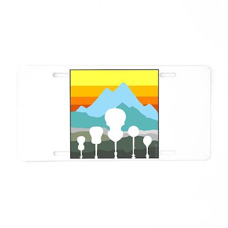 Mountain Music Aluminum License Plate