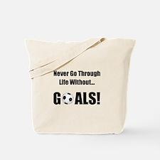 Soccer Goals Tote Bag