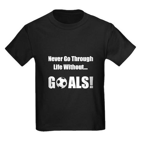 Soccer Goals Kids Dark T-Shirt
