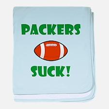Packers Suck baby blanket