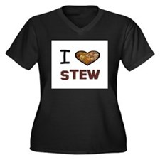 Unique I heart potatoes Women's Plus Size V-Neck Dark T-Shirt