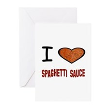 Cute Spaghetti Greeting Cards (Pk of 10)