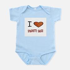 Unique I heart meat Infant Bodysuit