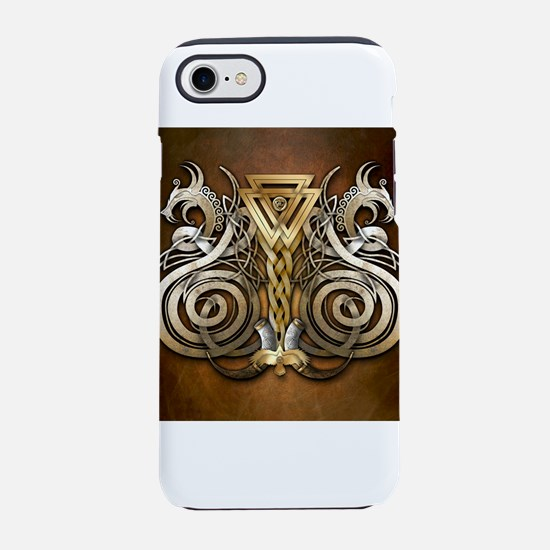 Norse Valknut Dragons iPhone 7 Tough Case