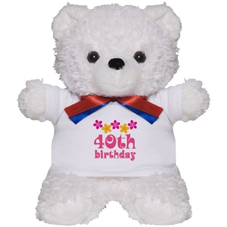 40th Birthday Hawaiian Teddy Bear