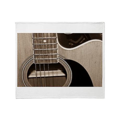 Guitar Throw Blanket
