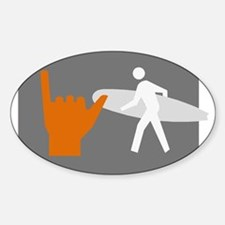 Don't walk - Surf Sticker (Oval)