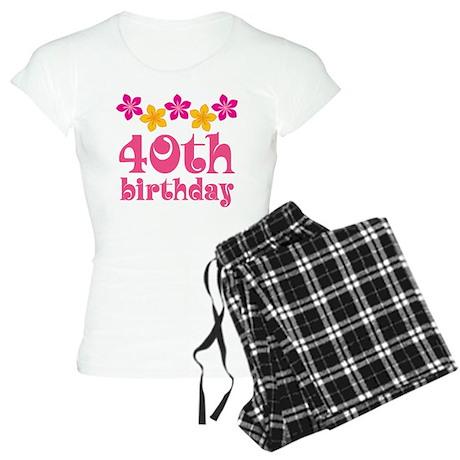 40th Birthday Hawaiian Women's Light Pajamas
