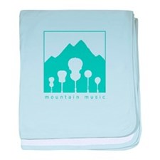 Mountain Music baby blanket